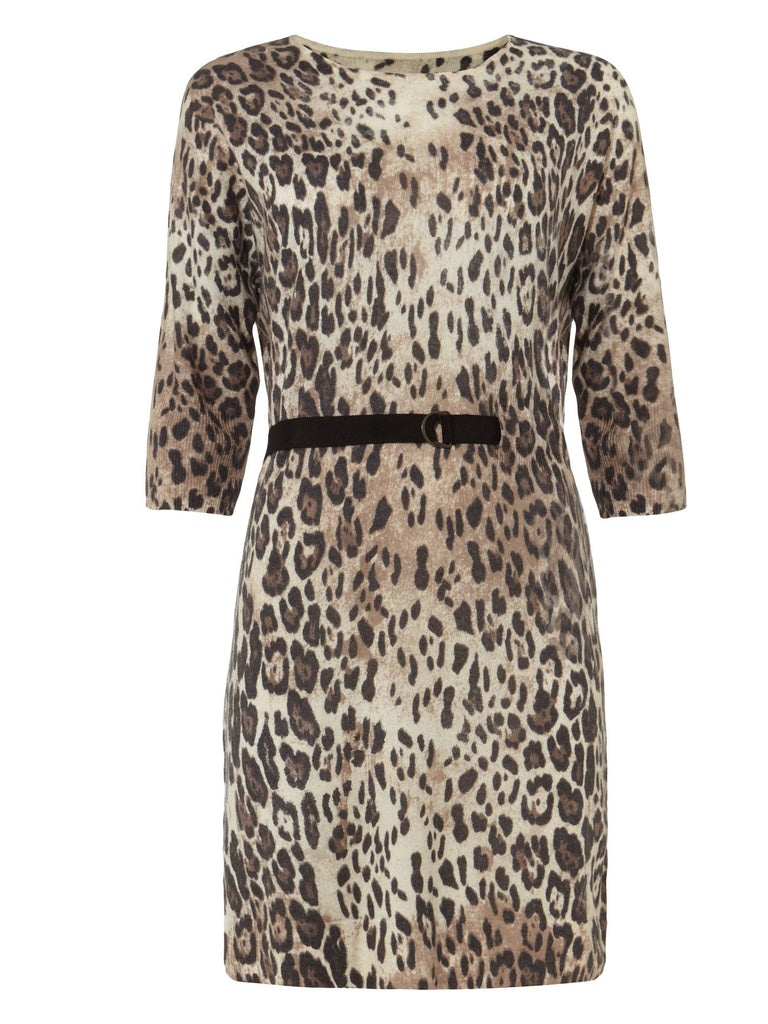 Damsel in a Dress Leopard Dress- Neutral