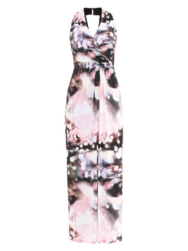 Damsel in a Dress City Lights Print Maxi- Multi-Coloured