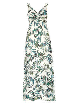 Damsel in a Dress Nadia Snake Palm Maxi Dress- Multi-Coloured