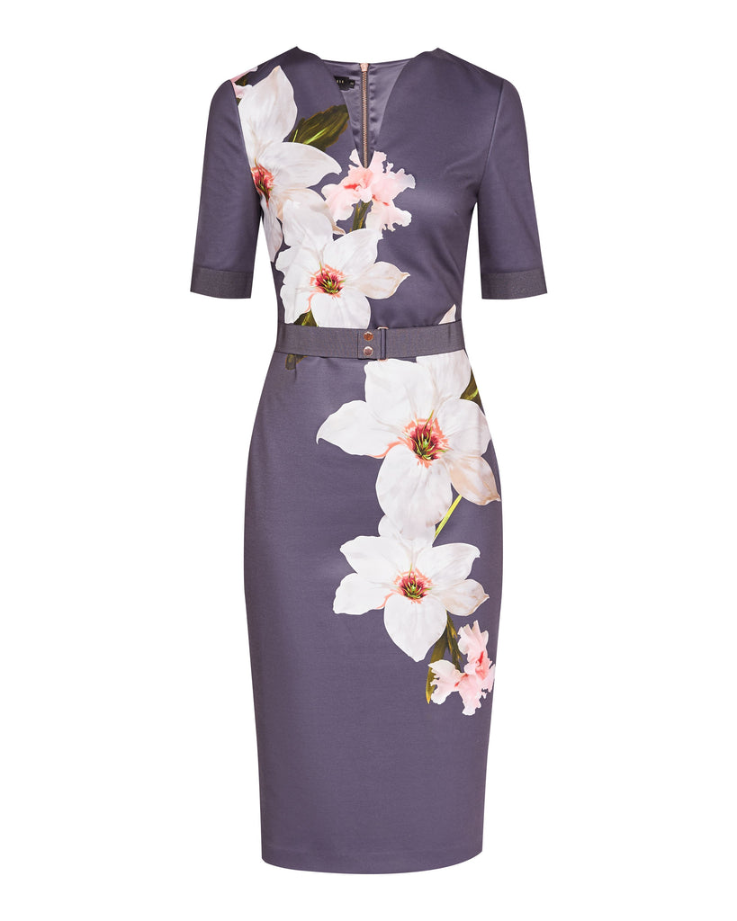 b1d51fc7 Ted Baker Bisslee Chatsworth Bloom Bodycon Dress- Grey – Dresses247