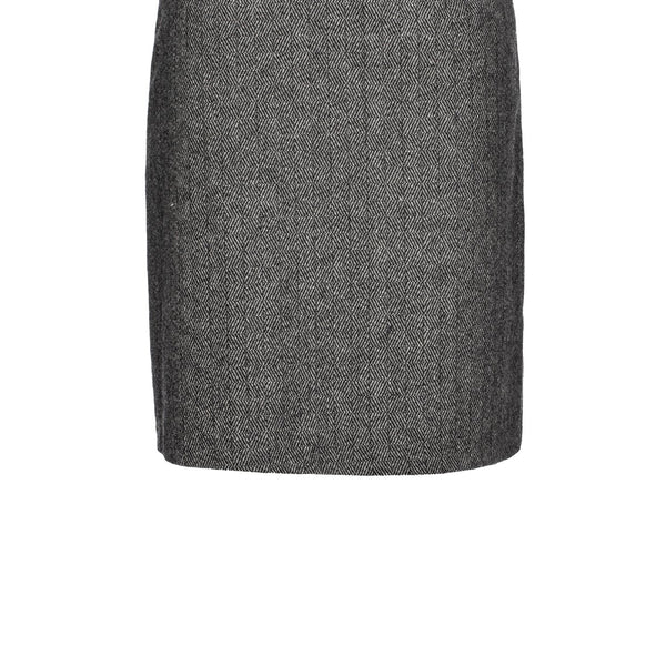 Smart & Joy Marled Wool Formal Mini Skirt- Grey