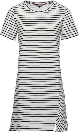 Tommy Hilfiger Brenna Stripe Dress- White