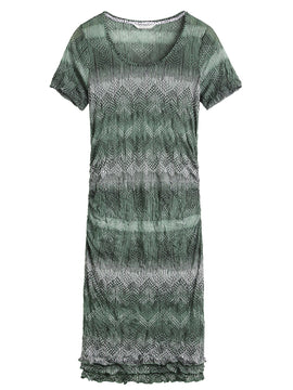 Sandwich Crinkled Jersey Dress- Green
