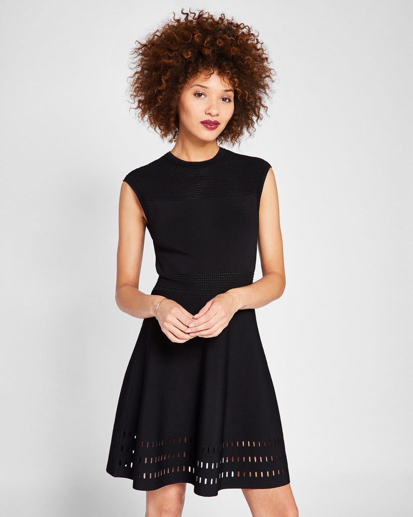 Ted Baker Knitted skater dress Black