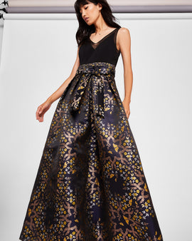 Kyoto Gardens Jacquard Maxi Dress
