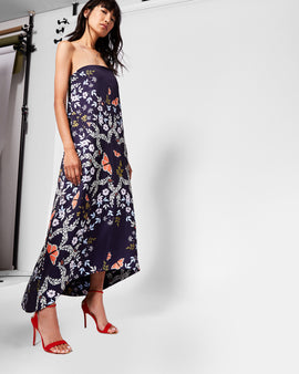 Kyoto Gardens Strapless Maxi Dress