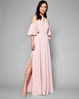 Cut-out Shoulder Maxi Dress