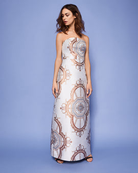 Versailles Strapless Maxi Dress