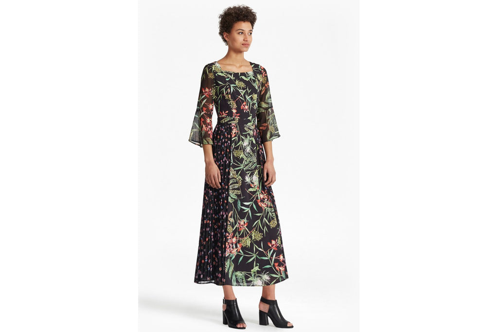 Bluhm Botero Sheer Maxi Dress - black multi