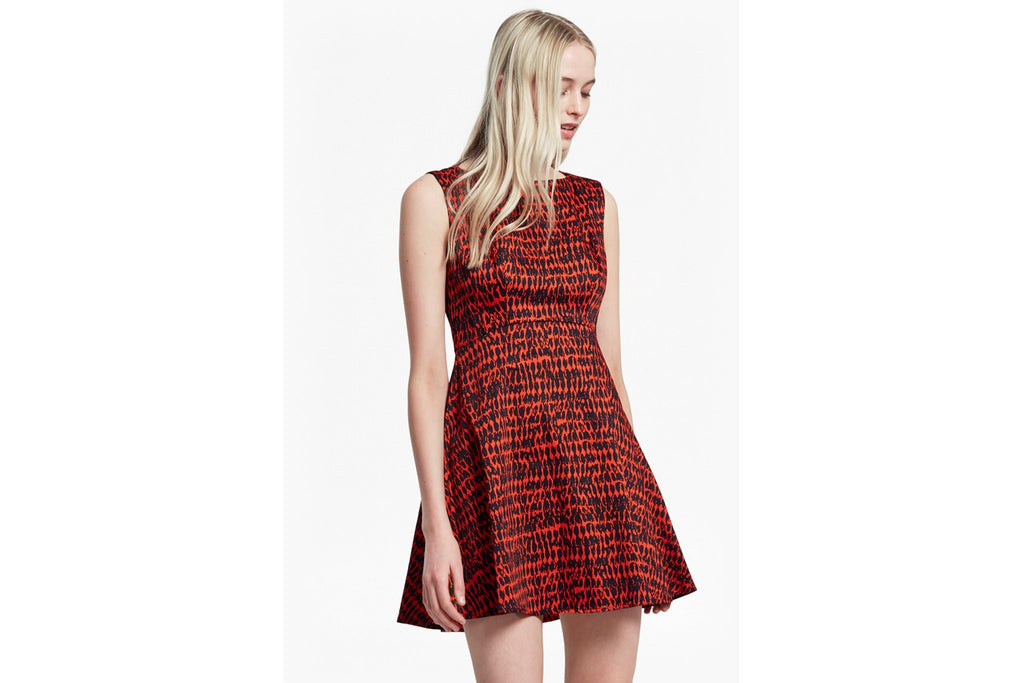 Canyon Sands Skater Dress - masai red/nocturnal