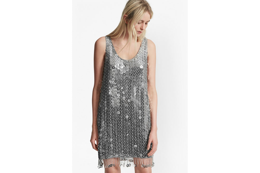Cindy Sparkle Sequin Dress  - silver