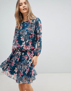 Zibi London Floral Drop Waist Dress - Multi
