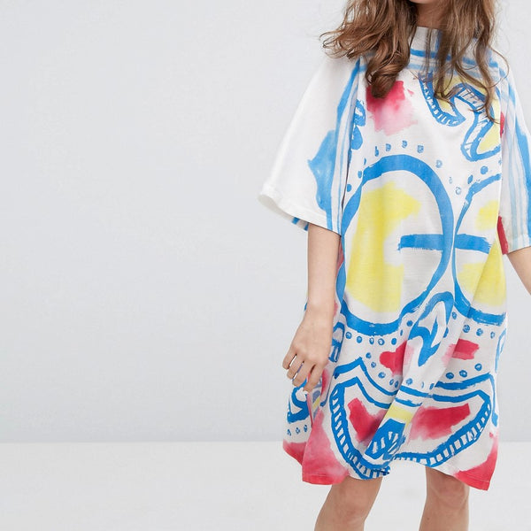 Typical Freaks Colourful Mask Dress - Multi
