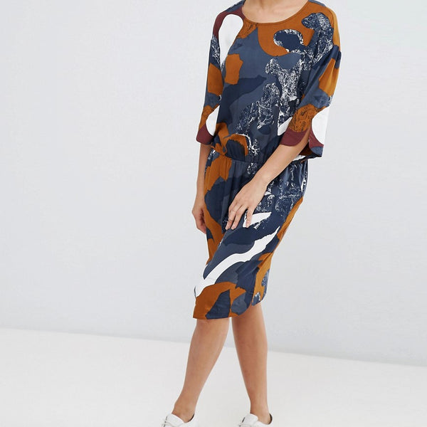 B.Young Printed Dress - Combi 1