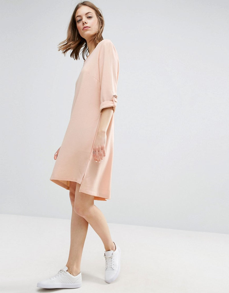 b.Young Crepe Dress - 80653 pearl blush