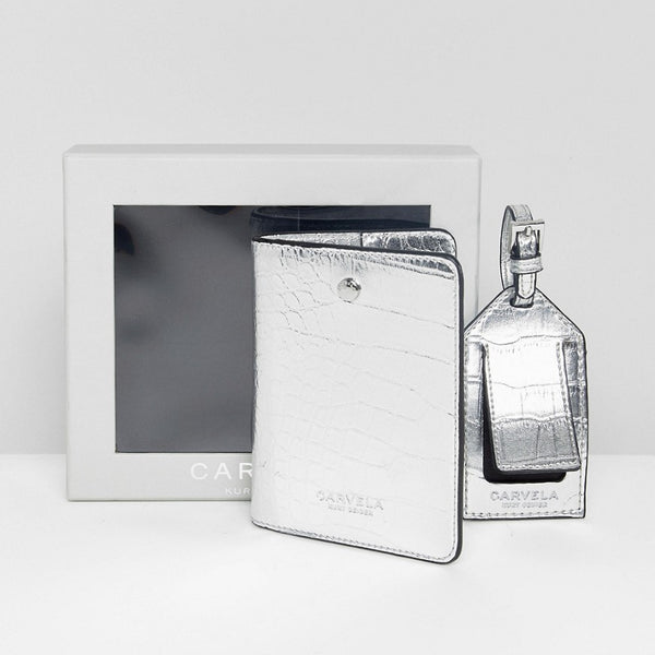 Carvela Passport Holder And Luggage Tag Set - Silver