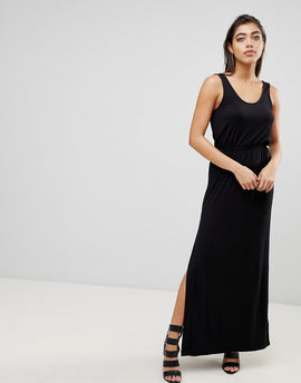 Ivyrevel Maxi Dress with Split - Black