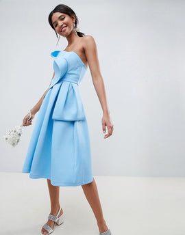 ASOS DESIGN origami top prom dress - Blue