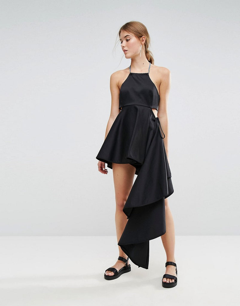 Weekday Press Collection Asymmetric Dress - Black