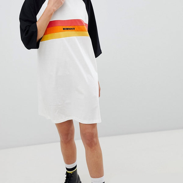 The Ragged Priest oversize t-shirt dress with slogan - Multi