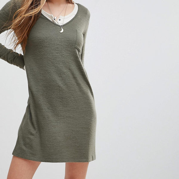 Abercrombie & Fitch Cosy Dress - Olive