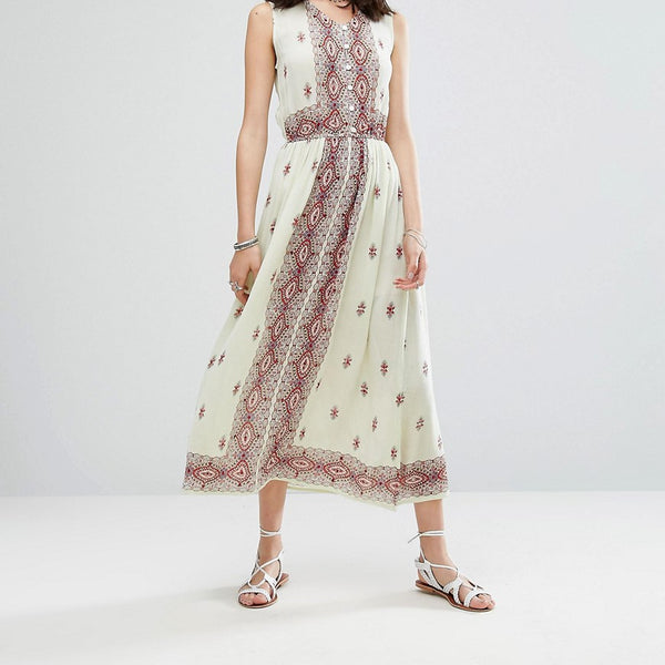 Raga Endless Love Sleeveless Patterned Maxi Dress - Multi