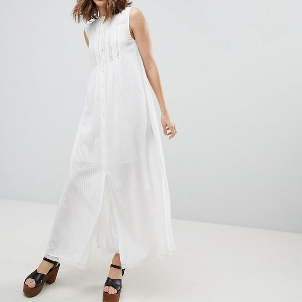 Paul & Joe Sister Button Front Midi Dress - White