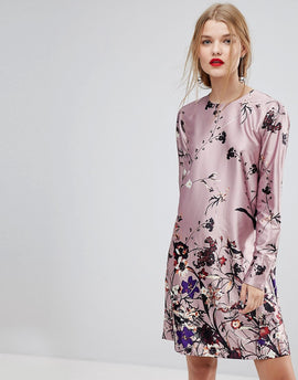 Y.A.S Floral Print Shift Dress - Multi