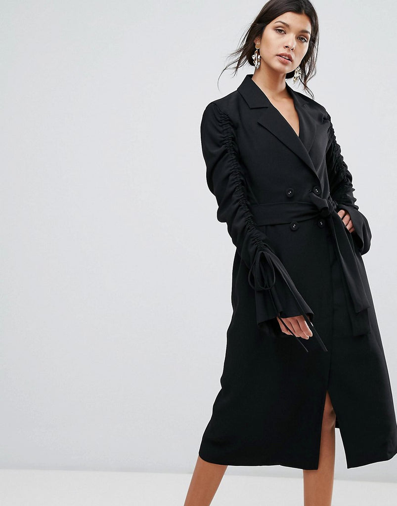C/Meo Collective Right Kind Of Madness Trench Dress - Black