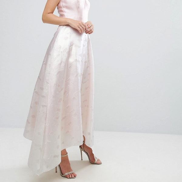 Coast Pearl Metallic Full Dress - Pink