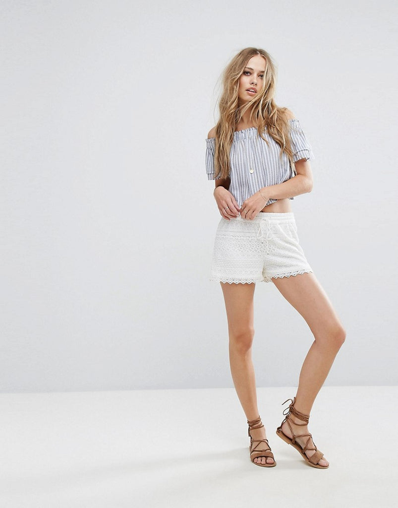 Vero Moda Lace Shorts - White