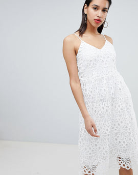 Vila Lace Cami Dress - White