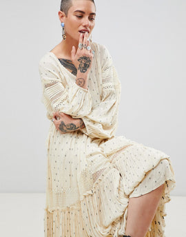 Free People Sada Maxi Dress - Ivory