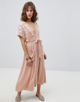 Free People Love To Love You Midi Dress - Ivory