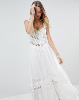 Rahi Cali Dreamcatcher Lace Maxi Dress - White