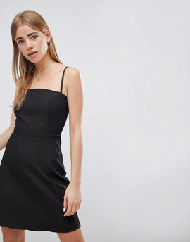 Nobody's Child Denim 90S Cami Dress - Black denim