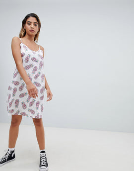 Noisy May Pineapple Printed Shift Dress - Multi