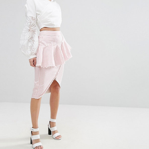 Asilio Rough Lines Skirt - Sorbet stripe