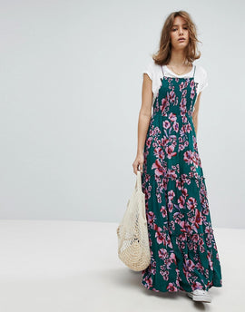 Free People Garden Party Print Maxi Dress - Turquoise