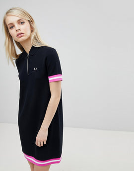 Fred Perry Tipped Pique Polo Dress - 102 black