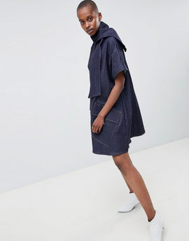 ASOS WHITE Denim Dress - Blue