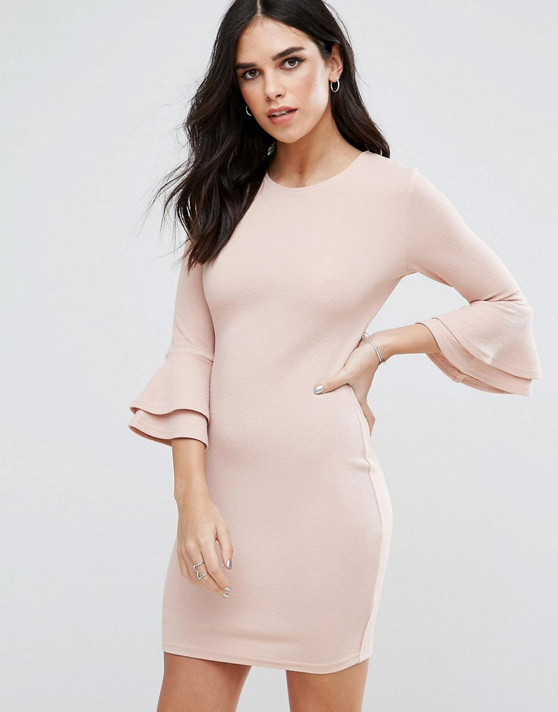AX Paris Flute Sleeve Mini Dress - Blush