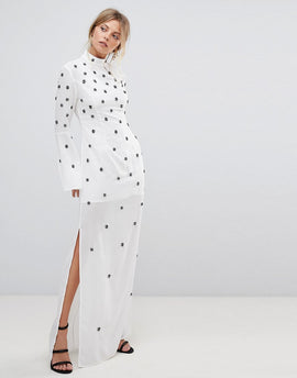 C/Meo Collective Assemble Embellished Gown Dress - Ivory