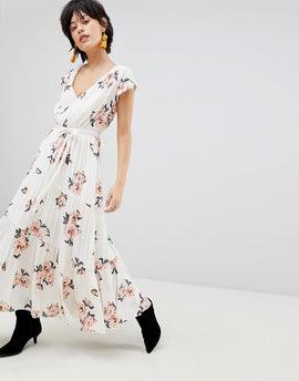 Free People All I Got Printed Maxi Dress - Ivory combo