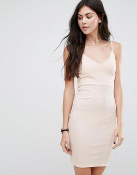 Daisy Street Cami Dress - Nude