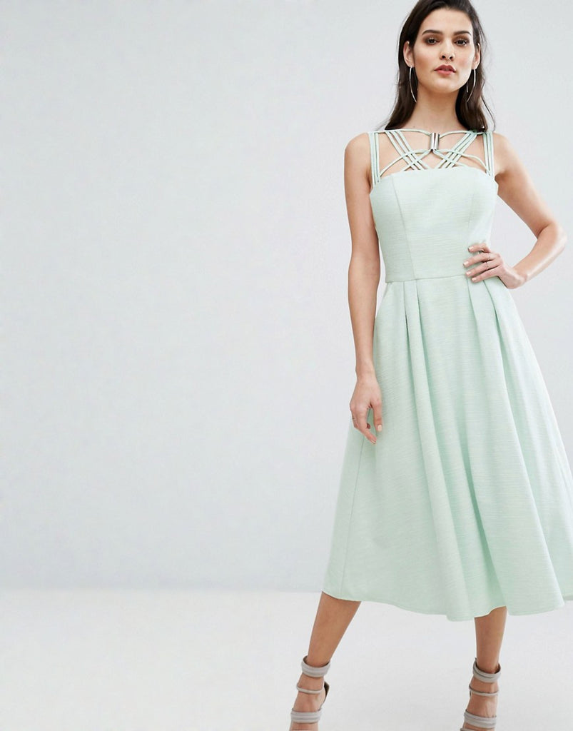 The 8th Sign Cosmos Dress With Full Skirt - Pale mint