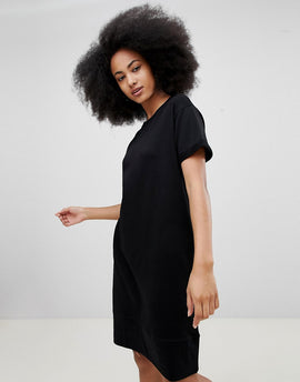 Pull&Bear Black Jersey Dress - Black