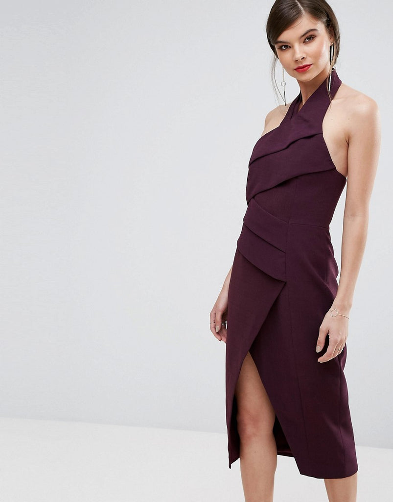 C/Meo Collective Don'T Stop Midi Dress - Aubergine