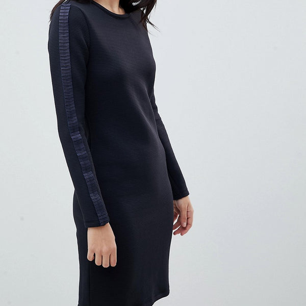 Boss Casual Knitted Dress with Pleat Detail - Open blue