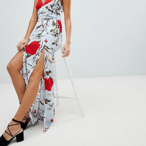 Parisian Floral Maxi Dress - Multi